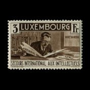 TUT1225 - Luxembourg : International Relief Fund 3f brown mint. CLICK FOR FULL DESCRIPTION
